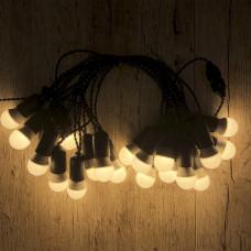 Ретро гирлянда для помещений Alphatrade, 10 метров 20 ламп LED, чёрная