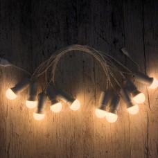 Ретро гирлянда для помещений Alphatrade, 5 метров 10 ламп LED, белая