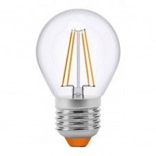 Светодиодная лампа филамент Videx G45 E27 4W Filament 3000K