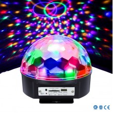 Диско шар с динамиками Alphatrade LED Ball Lamp Светомузыка с MP3 плеером и Bluetooth