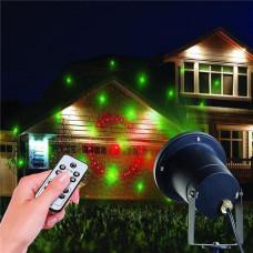 Декоративный уличный лазерный проектор Alphatrade c пультом управления