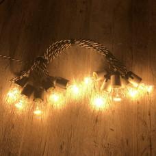 Ретро гирлянда для помещений Alphatrade, 15 метров 30 ламп накаливания, зебра