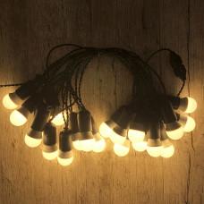 Ретро гирлянда для помещений Alphatrade, 15 метров 30 ламп LED, чёрная