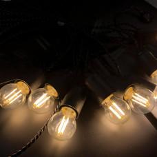 Ретро гирлянда для помещений Alphatrade, 5 метров 10 филаментных LED ламп, черный