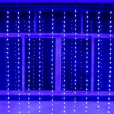 Гирлянда Штора Alphatrade 1,8 *1,4 м, 320LED, + статика, прозрачный провод, синий