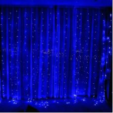 Гирлянда Водопад Alphatrade 2*2 м, 240LED, + статика, прозрачный провод, синий