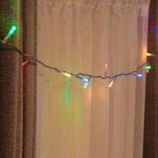 Гирлянда нить на ёлку Alphatrade, 500LED, 30 м, + статика, прозрачный провод, разноцветный