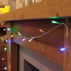 Гирлянда нить на ёлку Alphatrade, 400LED, 26 м, + статика, прозрачный провод, разноцветный